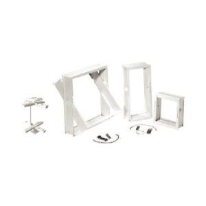 Telaio porta vetro e distanziatore per vetrocemento