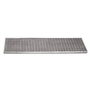 Griglia zincata antitacco per canalette in cemento
