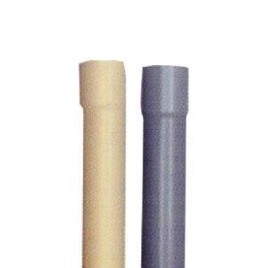 Tubi in PVC avorio e grigio