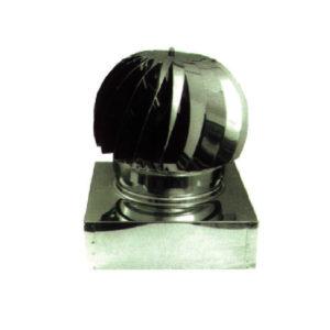 Cappello eolico INOX base quadrata