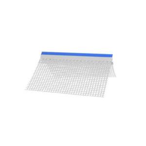 Paraspigolo con gocciolatoio in plastica con rete