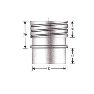 Raccordo tubo flessibile doppia parete – tubo rigido
