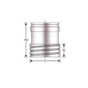 Raccordo tubo rigido – tubo flessibile doppia parete