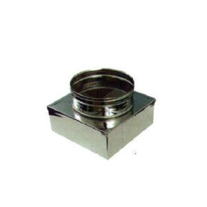 Riduzione Inox base quadrata