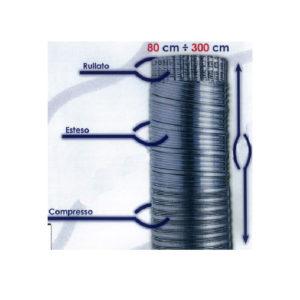 Tubo flessibile in alluminio naturale