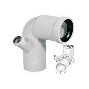 Curva WC alta con attacco sinistro in Polipropilene