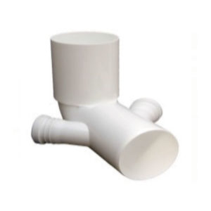 Curva WC alta con due attacchi in Polipropilene