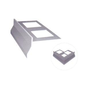 Gocciolatoio NOR per balconi e terrazze in alluminio H55