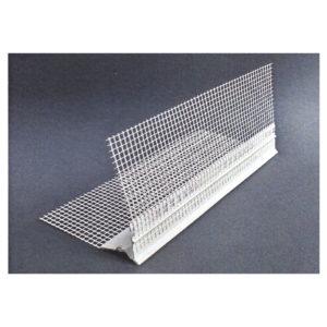 Paraspigolo rompigoccia in PVC a scomparsa con rete in fibra di vetro